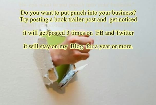 put your book trailer  on my Popular blog