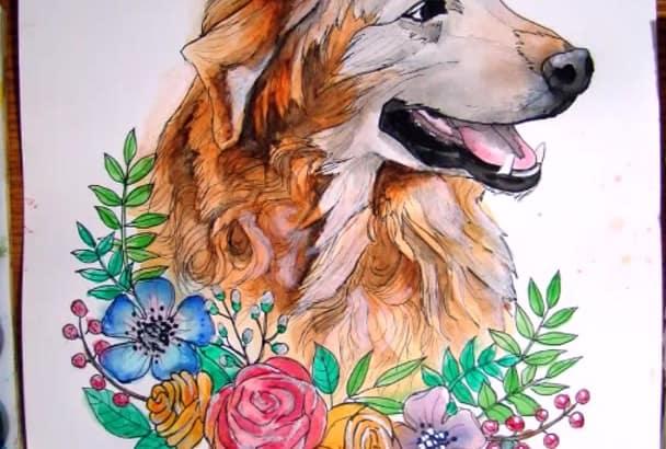 hand make a portrait of your beloved pet