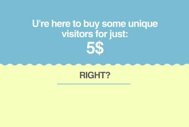 send unique 5000 visitors to your link