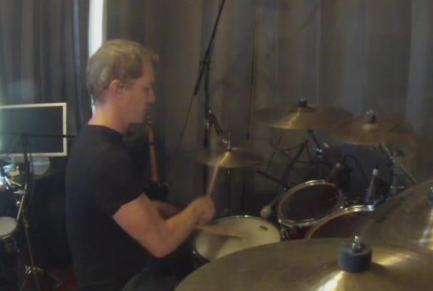 record professional drum tracks