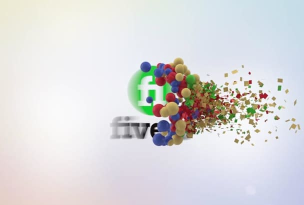 make Spheres Particles Logo Intro