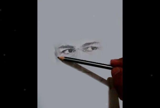 draw pencil portrait sketch of your photo