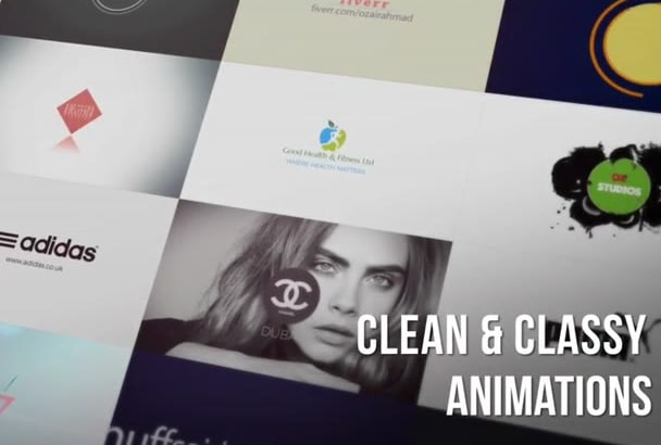 create professional and Classy Animated logo Intro