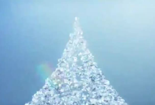 sparkling Diamonds video animation of your logo