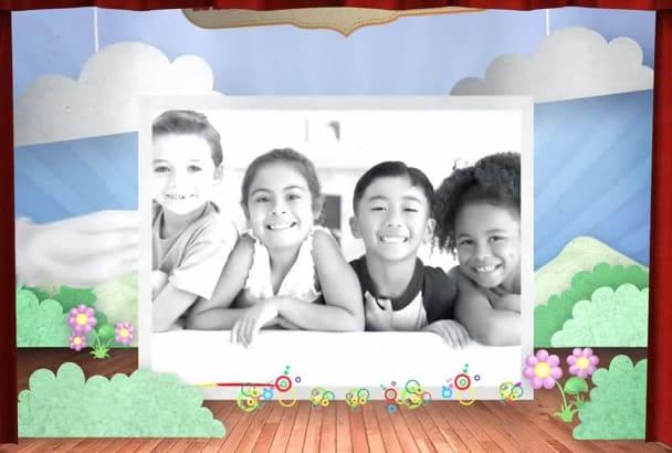 create a kids themed video
