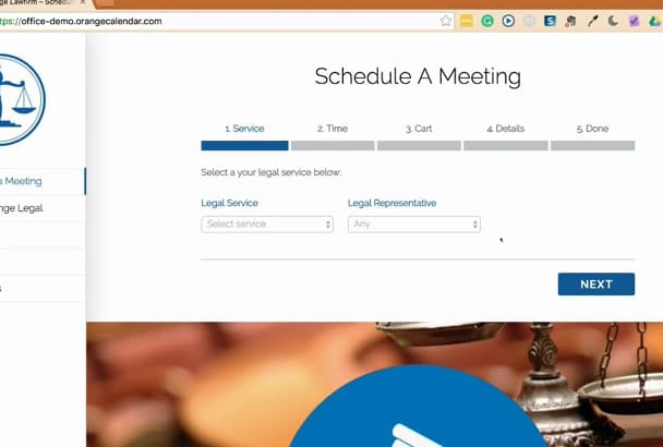 build an appointment booking and scheduling website