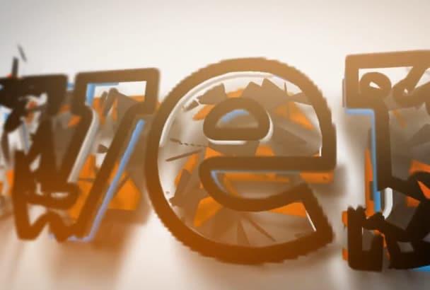 animate 3D LOGO intro