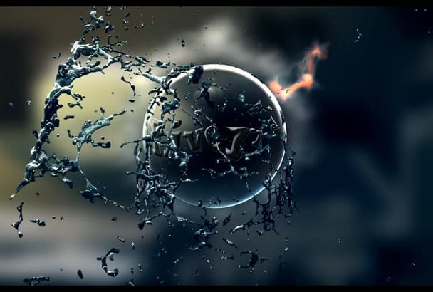 animate this Fire Water Splash intro