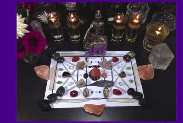 as your Crystal Healer create PROTECTION crystal grid and channel energy for you