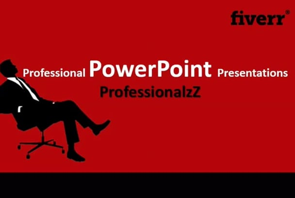 create Professional POWERPOINT Presentation in 24hrs