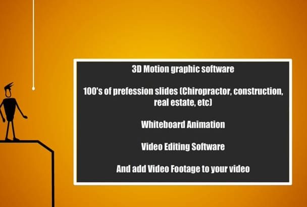create a CUSTOMISED video for almost anything you need
