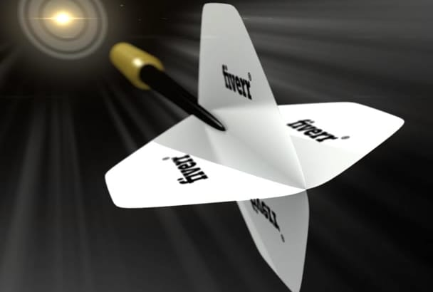 create a Darts Target logo reveal