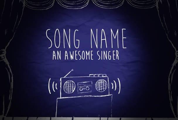 create a stunning hand drawn style animated lyrics video