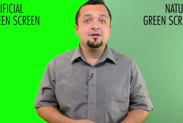 deliver in 24 hours a GREENSCREEN 300 word video