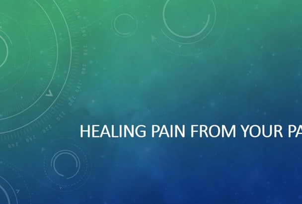 help to heal your past distress or pain