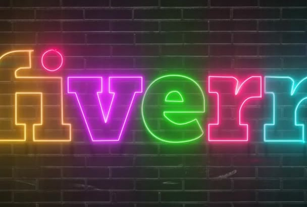 draw your logo with bright NEON sign