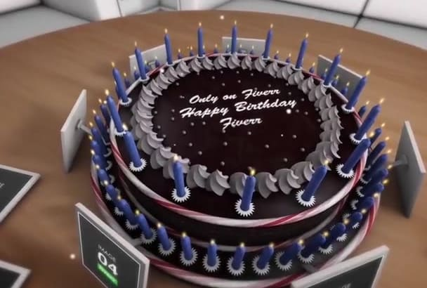 make Personalized Birthday Cake Video with 11 Images