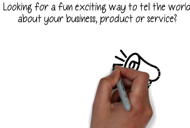 create a Professional Whiteboard Animation Video CHEAP