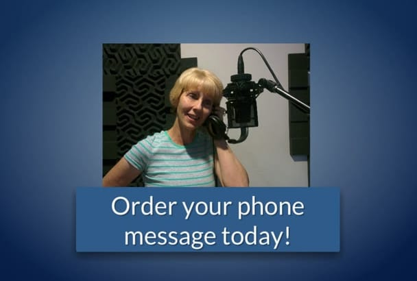 record a professional voicemail greeting in 24 hours