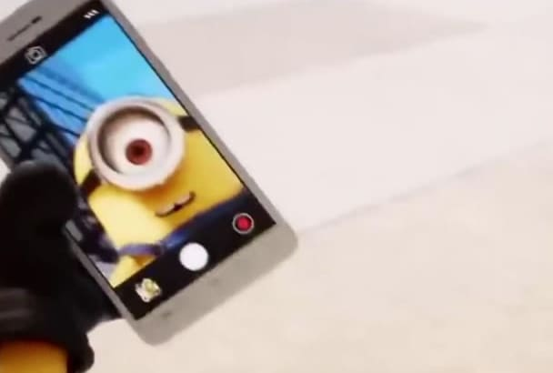 create minion selfie with your logo