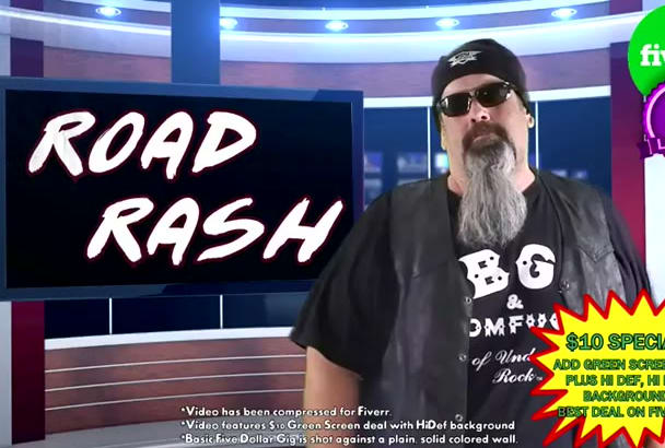 make an online marketing video as the Outlaw Biker Road Rash