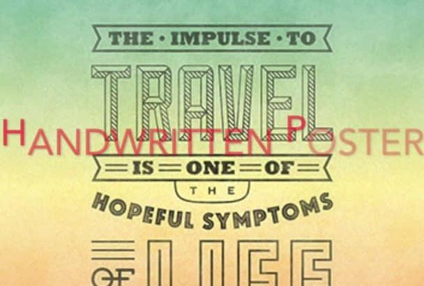 design special Typographic Poster