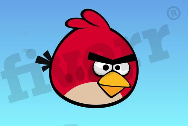 make video of Angry Birds crashing into your logo or text