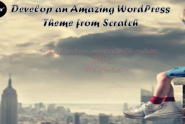 create amazing WordPress Theme from PSD