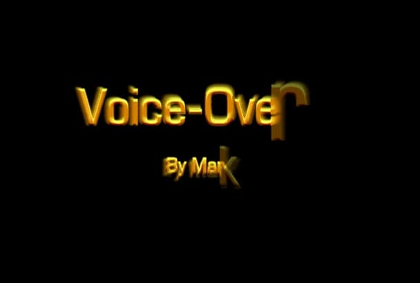 produce a professional voice over