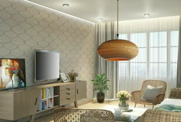 design and visualize  interior,exterior and 3d layout