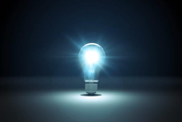 create this amazing Bulb logo intro