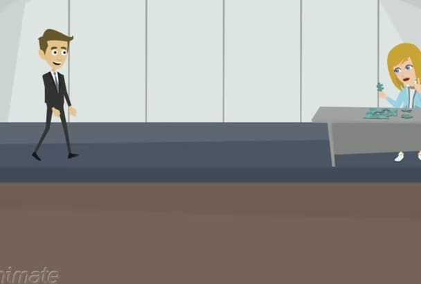 create an awesome 2D animation for you