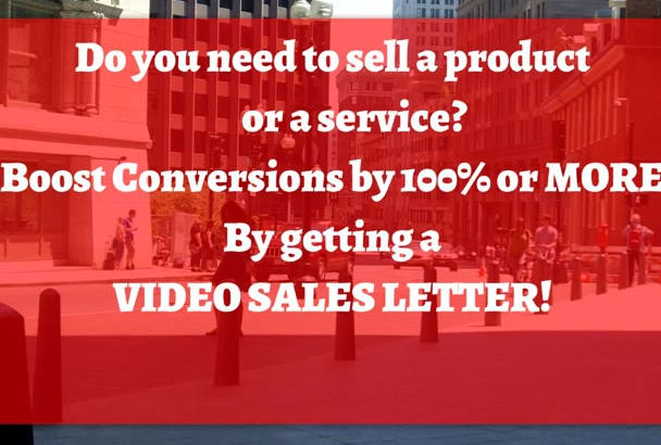 create a 1 minute video sales letter in English or in Hebrew