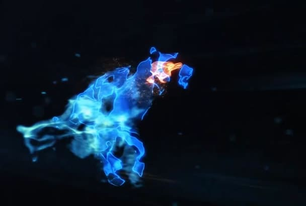 make a mystic wolf logo reveal