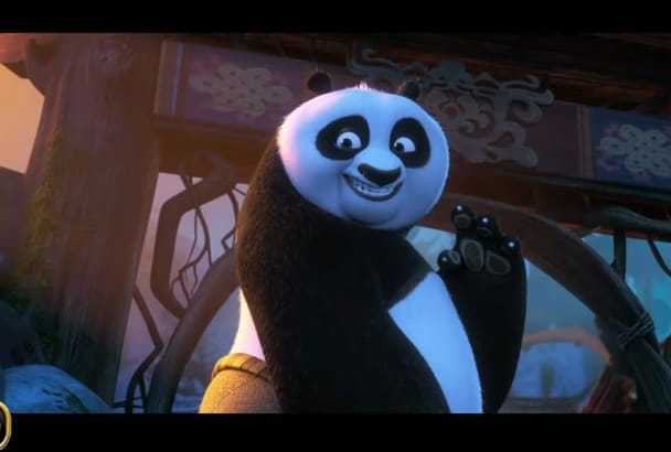 promote LOGO or TeXT with Funny KungFu Panda Animation Video