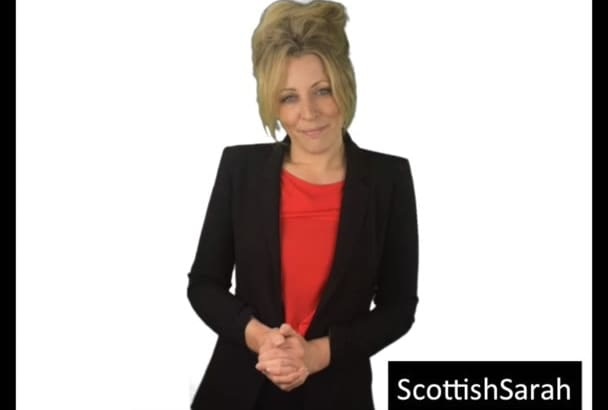 record a Scottish female voice over for you