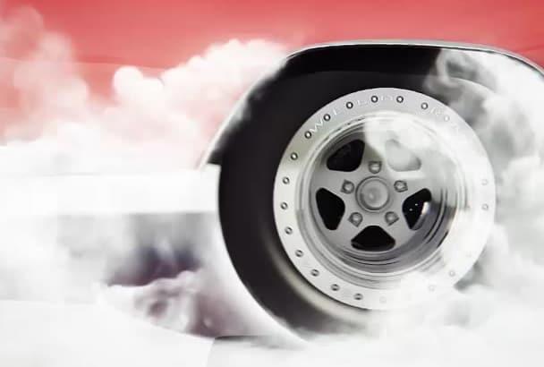 do this PROFESSIONAL car burnout logo animation