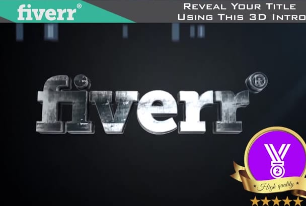 reveal Your Logo or Title using this 3D Intro