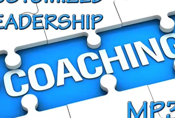 create a custom leadership coaching MP3