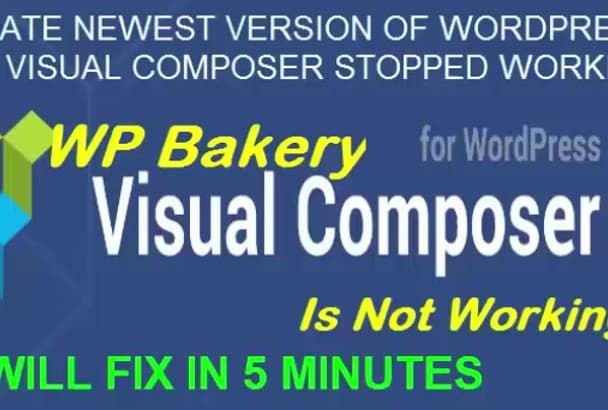 fix visual composer issue and design WordPress page