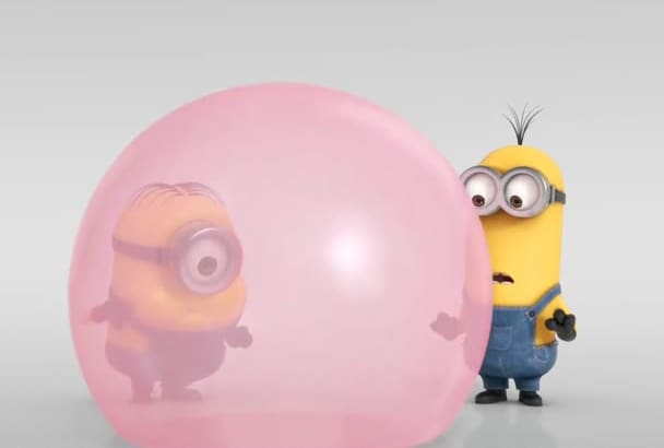 make you Minions blowing BubbleGum promotional video