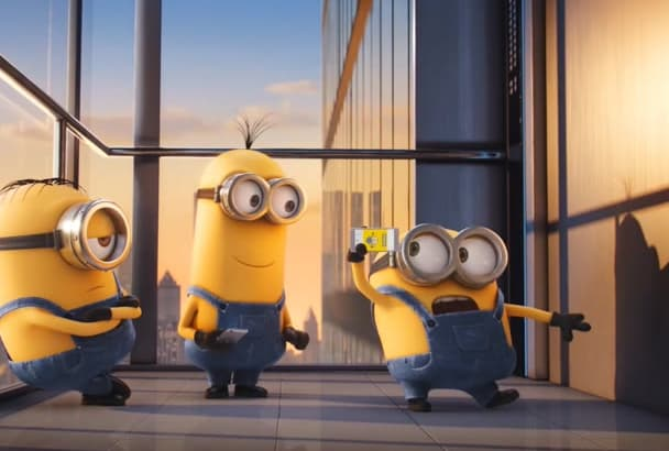 make video advertisement with this minion dancing video