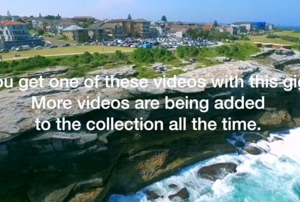 give you a drone video for your project