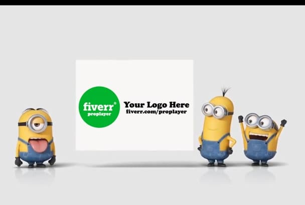 make you Minions gluing your LOGO poster promotional video