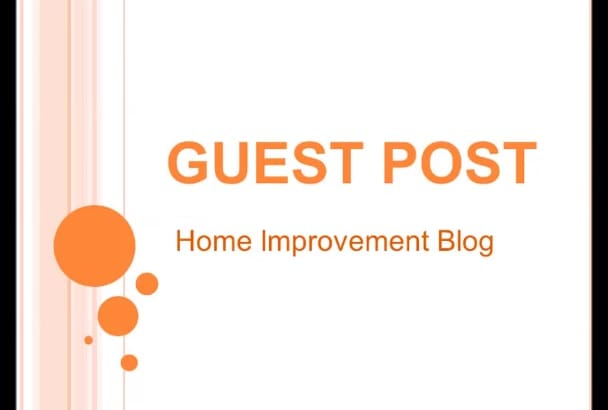 give you guest post on my home improvement blog