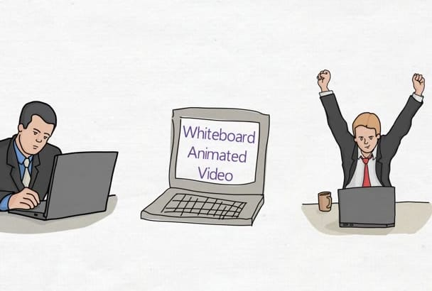 create a Professional Whiteboard Animation in lowest price