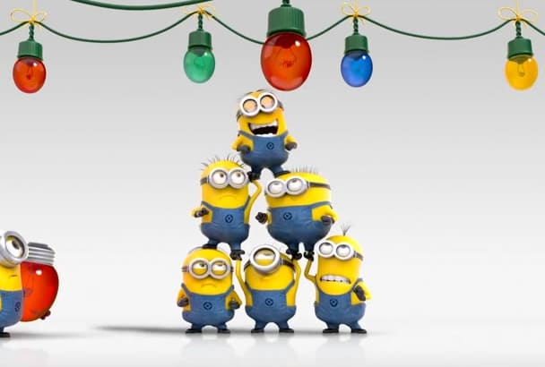make Christmas Greetings video featuring Minion Super Fast