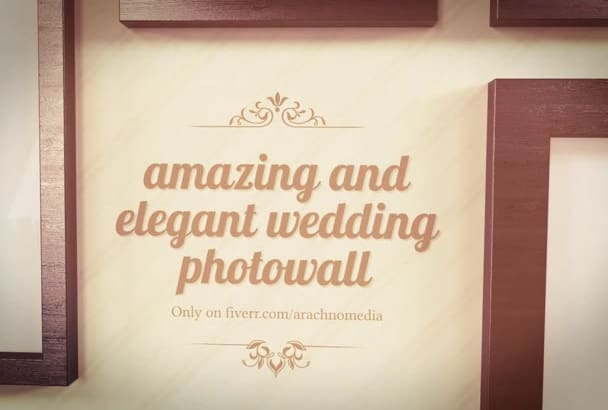 create the most amazing wedding photowall video