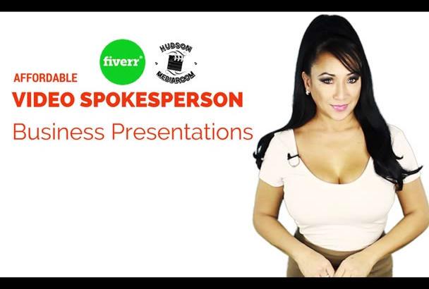 promo your brand as a video SPOKESPERSON