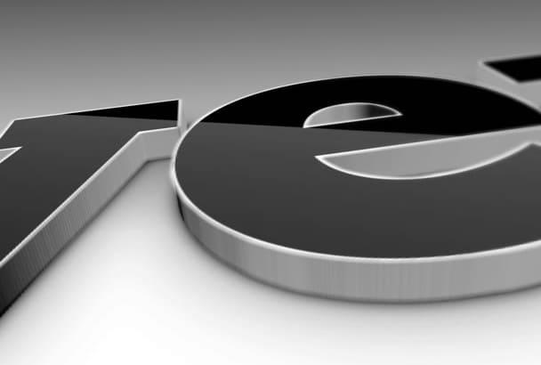 make 3D corporate logo